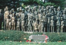 Lidice WW2 monument