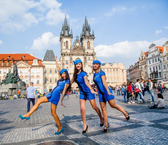 Old Towns Square Prague & Our stewardess
