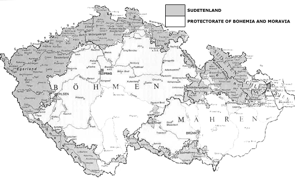 Sudetenland Map 1938