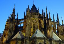Where is Prague located? Town in heart of Europe