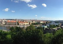View from Letna hill Prague