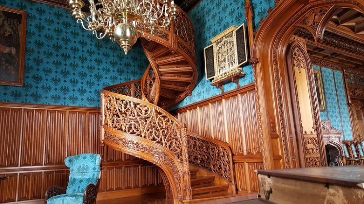Wood Stairs in Lednice Chateau made from one three