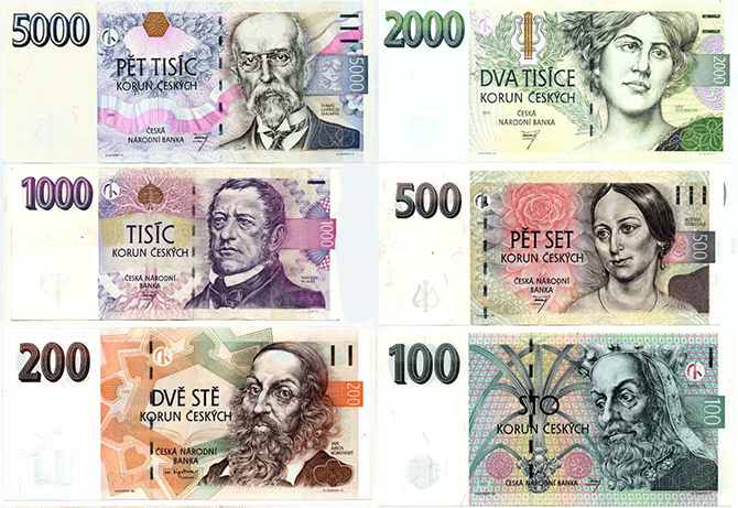 Czech currency - banknotes