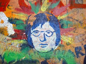 John Lennon Wall Prague - used to be ordinary like any other wall in Prague